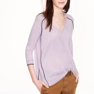 ⭐️J.Crew Lilac V-Neck Sweater XS